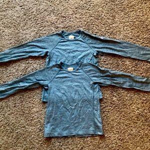 Two Icebreaker kids merino wool long sleeve size 8
